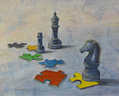 Painting - Mind Games by Sandy Clift
