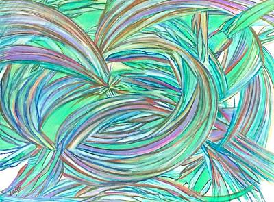 Abstract Design Drawing - 'mind Play' by Kelly K H B