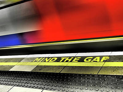 London Tube Photograph - Mind The Gap by Rona Black