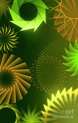 Weed Digital Art - Mind Trips - Green As Canopy by Bedros Awak