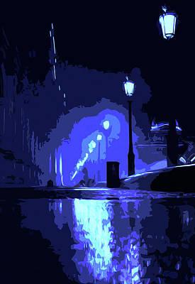 Painting - Mindnight Rain by Andrea Mazzocchetti