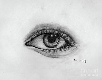 Drawing - Minds Eye by Tamyra Crossley