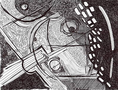 Drawing - Minds Eye View by Todd  Peterson
