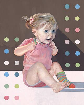 Painting - Socks And Dots by GayLynn Ribeira