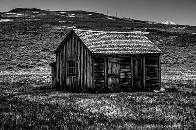 Photograph - Mine Shack At Bodie Ghost Town by Roger Passman