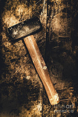 Mine Shaft Mallet Art Print