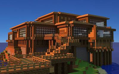 Buildings Digital Art - Minecraft by Maye Loeser