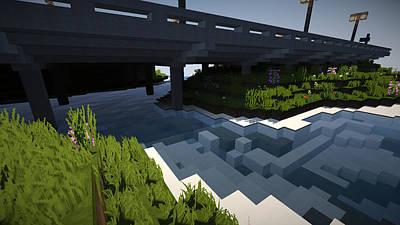 Screenshot Photograph - Minecraft Shaders Hd by Braden Boyko