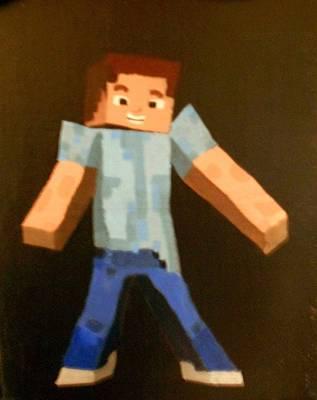 Minecraft Steve Art Print