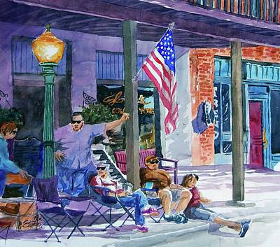 Mineola Tx Street Fair Art Print by Ron Stephens