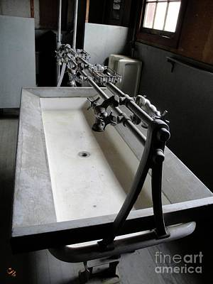 Photograph - Miner Communal Sink by Ron Bissett