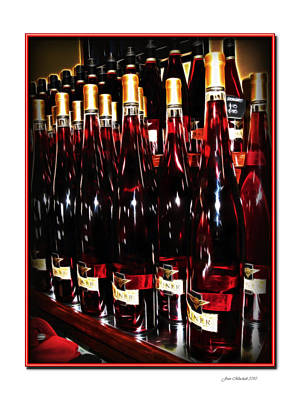 Photograph - Miner Pink Sparkling Wine by Joan  Minchak