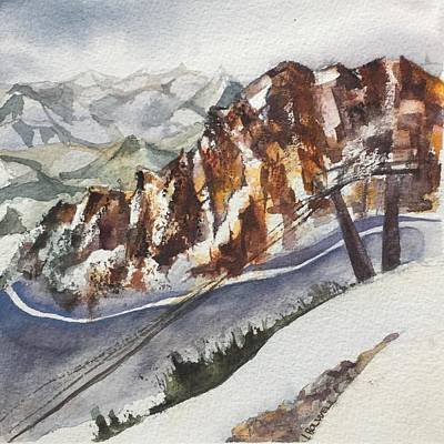 Painting - Mineral Basin At Snowbird Utah by Lynne Bolwell