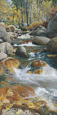 Sequoia National Park Painting - Mineral King Fall by Nadi Spencer
