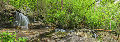 Photograph - Mineral Springs Panorama Upper And Middle Falls by Angelo Marcialis