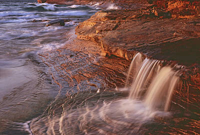 Photograph - Miners Beach Falls And Waves by Tom Daniel