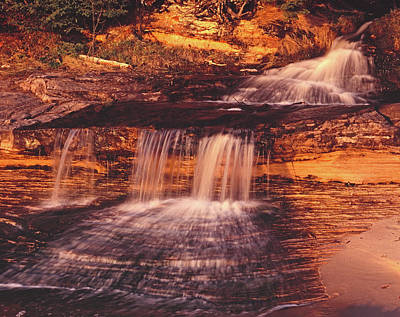 Photograph - Miners Beach Falls Last Light by Tom Daniel