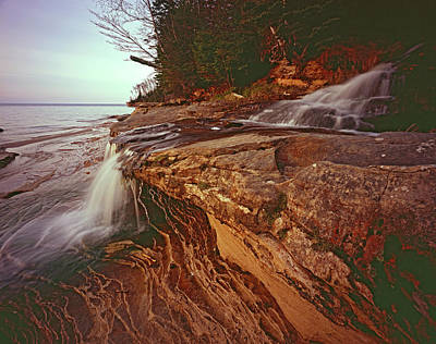 Photograph - Miners Beach Falls Profile by Tom Daniel