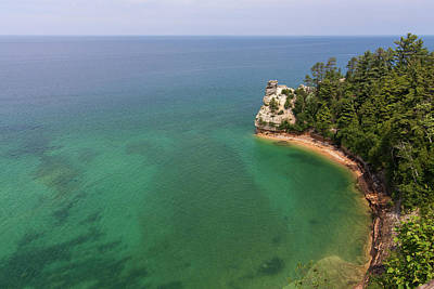 Photograph - Miners Castle And Lake Superior by Paul Rebmann