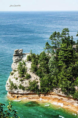 Photograph - Miners Castle Rock by Joann Copeland-Paul
