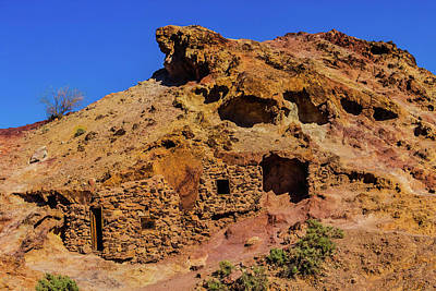 Old West Photograph - Miners Hut In The Hillside by Garry Gay