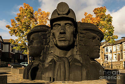 Photograph - Miners In The Autumn by Steve Purnell