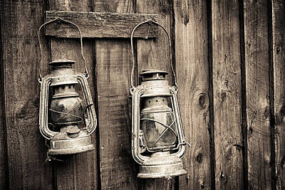 Photograph - Miners Lamps by Stewart Scott