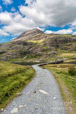 Walker Digital Art - Miners Track Snowdonia  by Adrian Evans
