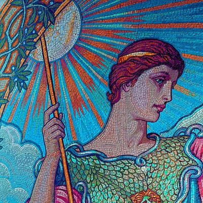 Thomas Kinkade Royalty Free Images - Minerva Goddess Of Wisdom 2 Royalty-Free Image by Tony Rubino