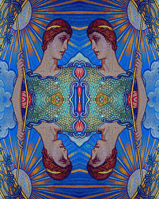 Minerva Goddess Of Wisdom Surreal Pop Art 2 Original by Tony Rubino