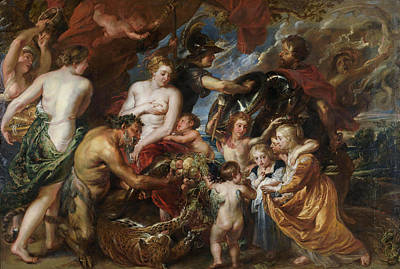 Nurture Painting - Minerva Protects Pax From Mars by Peter Paul Rubens