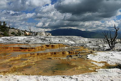 Photograph - Minerva Spring And Terrace Under A Dramatic Sky by Christiane Schulze Art And Photography