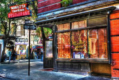 Bath Time Rights Managed Images - Minetta Tavern Close Up Royalty-Free Image by Randy Aveille