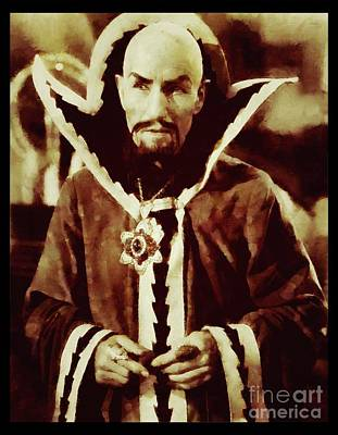 Musicians Royalty Free Images - Ming the Merciless from Vintage Flash Gordon Royalty-Free Image by Sarah Kirk