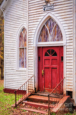 Photograph - Mingo Methodist Church-painting by Kathleen K Parker