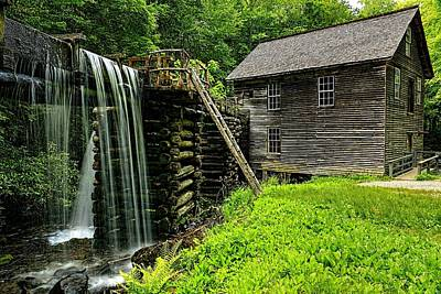 Photograph - Mingus Grist Mill Overflows by Carol Montoya