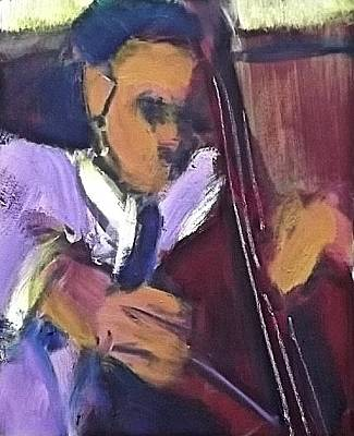Painting - Mingus by Les Leffingwell