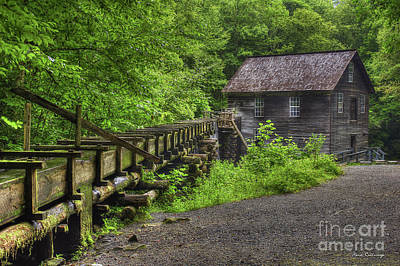 Art Print featuring the photograph Mingus Mill 2 Mingus Creek Great Smoky Mountains Art by Reid Callaway