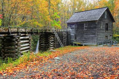 Photograph - Mingus Mill In The Great Smoky Mountains National Park by Frank G Montoya