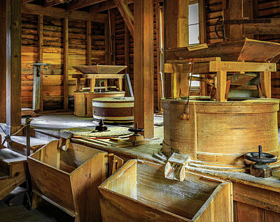 Photograph - Mingus Mill Interior by Tim Stanley