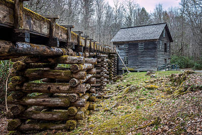 Photograph - Mingus Millrace And Mill In Late Winter by Susie Weaver