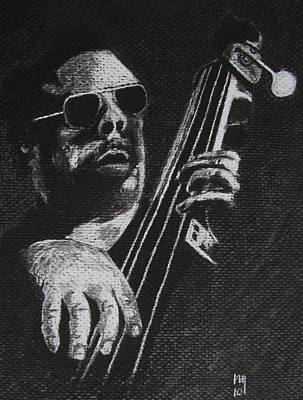 African-american Drawing - Mingus by Nick Young