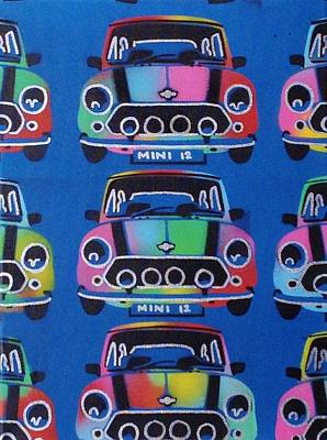 Stencils Painting - Mini 12 by Leon Keay