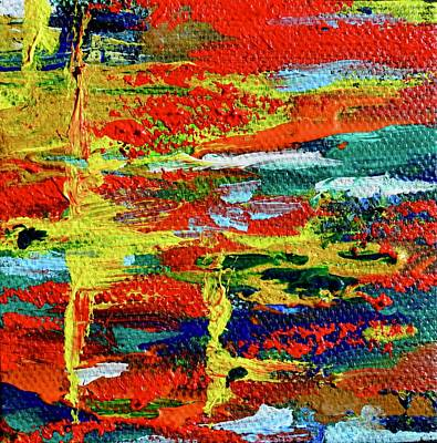 Painting - Mini Abstract In Red by Beverley Harper Tinsley