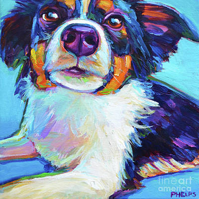 Painting - Mini Aussie by Robert Phelps