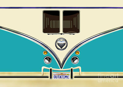 Digital Art - Mini Bus Out At Time by Three Second