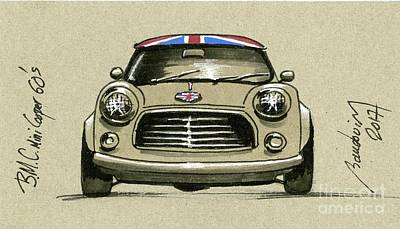 919 Painting - Mini Cooper by Alain Baudouin