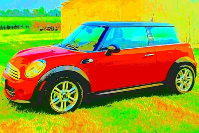 Photograph - Mini Cooper Country by Marianne Dow