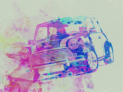American Cars Drawing - Mini Cooper by Naxart Studio