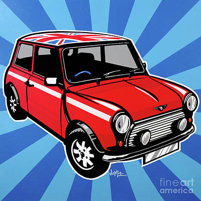 Painting - Mini Cooper by James Lee